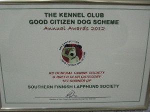 Good citizen scheme awards 2012